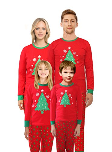 Christmas Tree Pajamas Family Matching Cotton Sleepwear for Mum Size L for $<!--$29.99-->