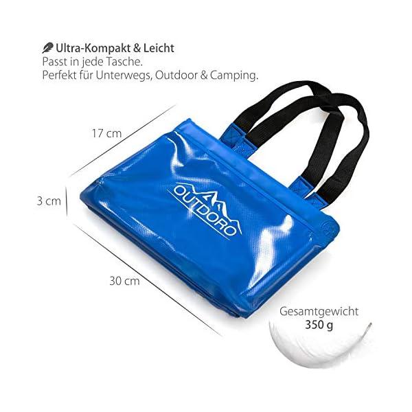 51Budlnr 4L Outdoro Faltschüssel Groß - 16/22 Liter - Inklusive Zusatz-Tasche - Langlebiges Planen-Gewebe - Faltbare Waschschüssel…