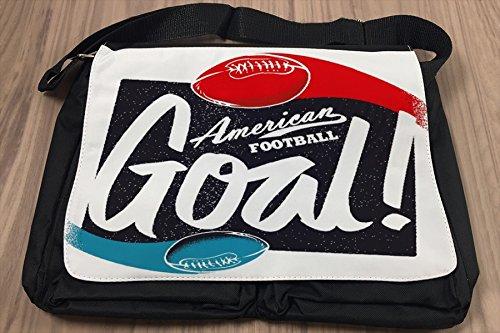 Borsa Tracolla Retro Football americano Stampato