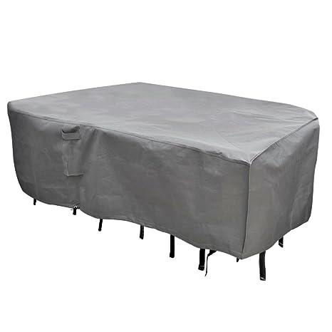 Mu0026ampH Mu0026H Heavy Duty Waterproof Large Patio Set Cover   Outdoor Furniture  Cover Handles Durable Hem