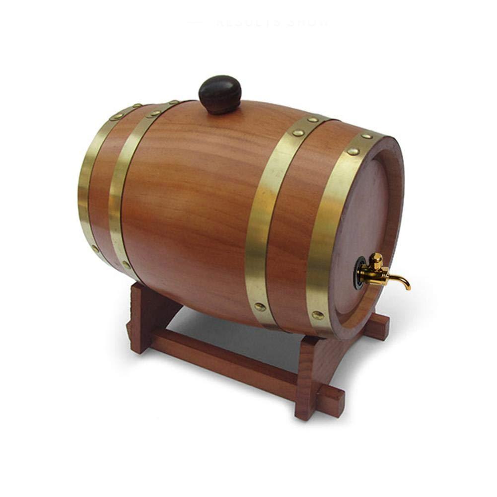 Wellye Wine Barrel 1.5L Vintage Wood Oak Timber Wine Barrel Dispenser for Beer Whiskey Rum Port relaxing hot sale