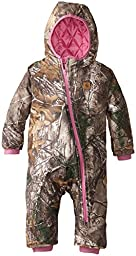 Carhartt Baby Girls\' Camo Snowsuit, Realtree Xtra, 12 Months
