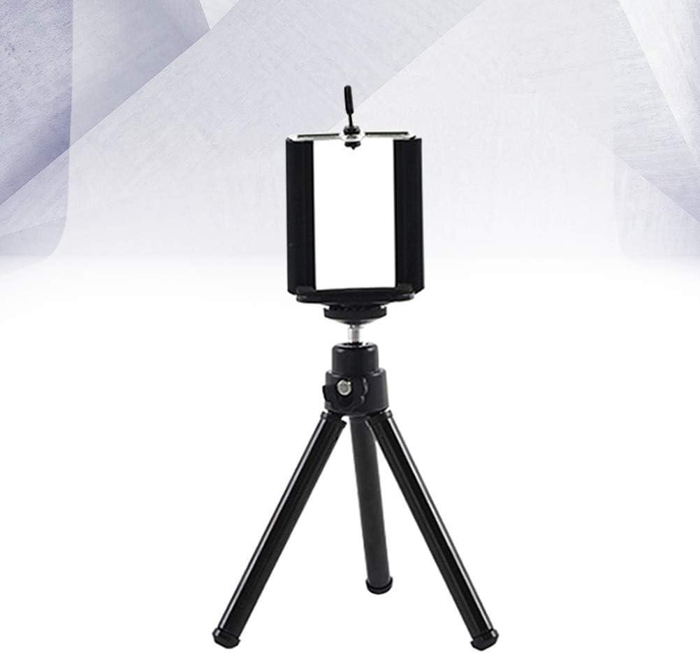 Black UKCOCO Retractable Mini Tripod 2 Section Desktop Photography Triangle Bracket