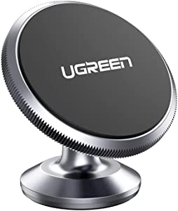 UGREEN Car Phone Holder Magnetic Dashboard Mobile Mount Dash Stand Compatible for iPhone 11 Pro Max, iPhone XR XS X 8 7 6 Plus 6S, Samsung Galaxy S20 Ultra S10 S9 S8, Note 10 9 8, Google Pixel 4 3a XL