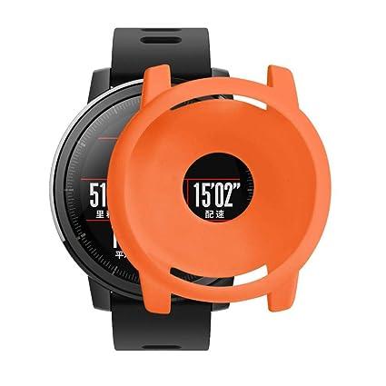 Protector Case para Huami Stratos 2/2S Smartwatch, Zolimx Suave TPU Protectora de Silicona Funda de Pantalla Completo Cubierta para Xiaomi Huami ...