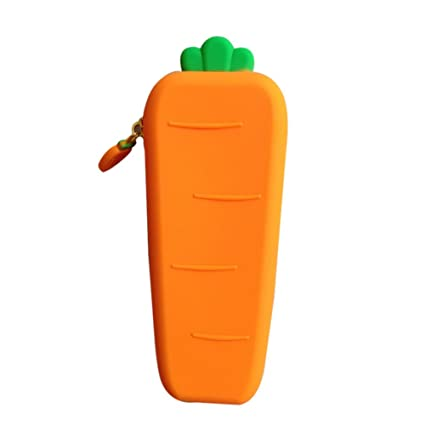 Home & Garden Novelty Pea Silicone School Pencil Case Cute Vegetable Pen Bag Storage Pouch Stationery Office School Supplies