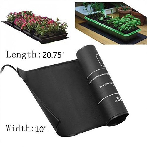 "Mitofox 2 Pack Waterproof Seedling Heat Mats for Seed Propagation and Increase Germination Success Hydroponic Heating Pad 10"" x 20.75"" MET Safety Standard Certified"