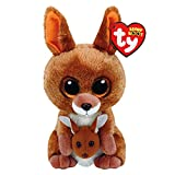 Claires Girls TY Beanie Boo Small Kipper the Kangeroo Plush Toy in Brown
