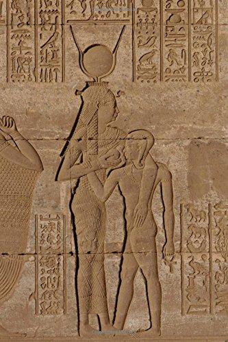 Goddess Hathor Feeding Horus Bas-Relief at Dendara Egypt Journal: 150 page lined notebook/diary