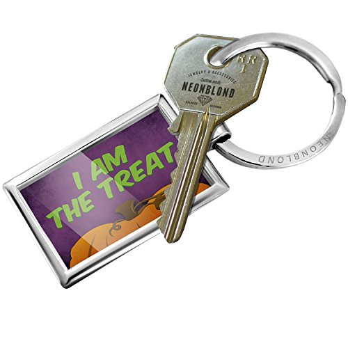 NEONBLOND Keychain I am The Treat Halloween Pumpkin -