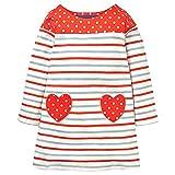 KIDSALON Little Girls Casual Cartoon Print Long Sleeve Cotton Dresses (4T, Love)