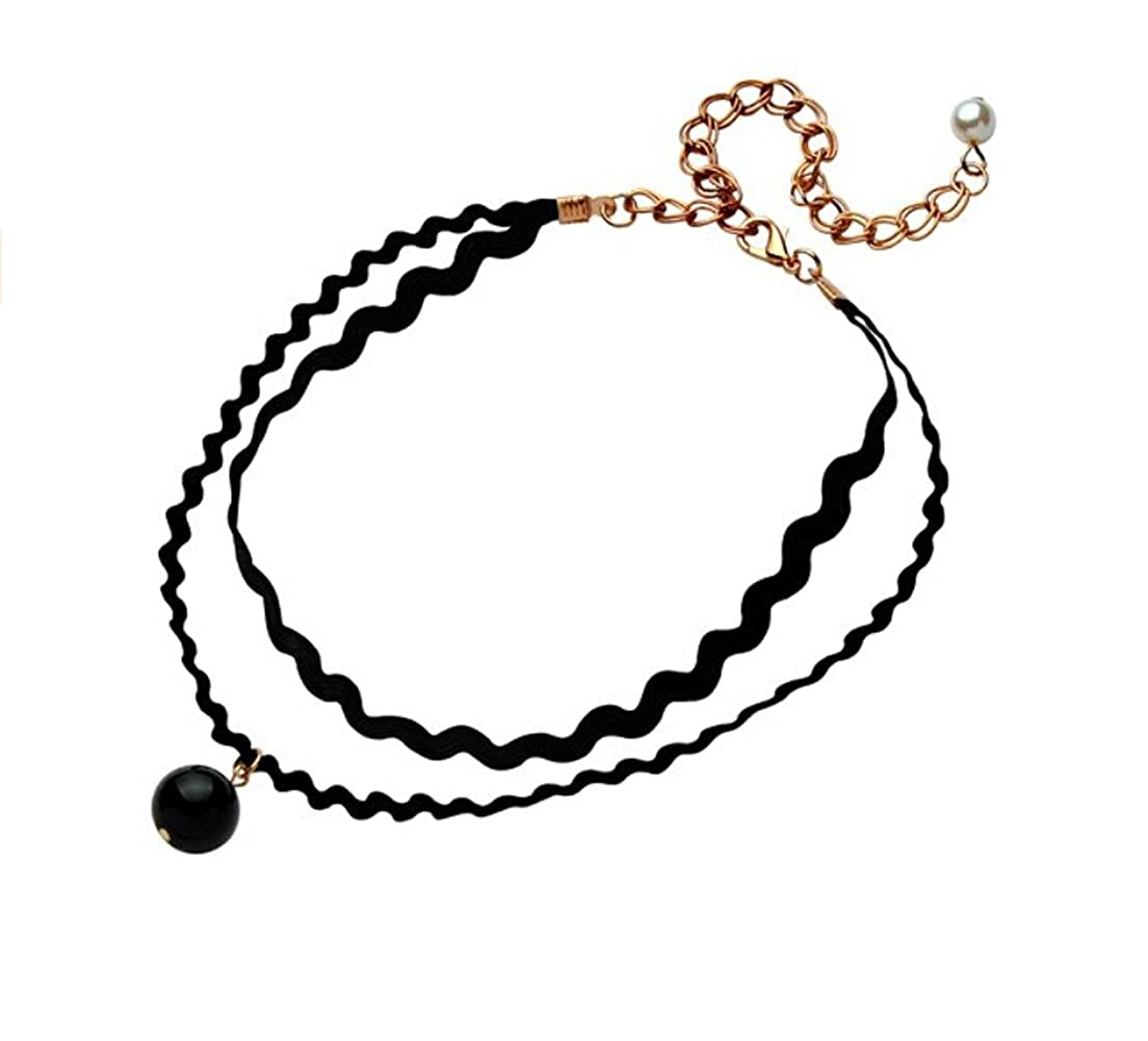 Amazon Com Adorable Woman Sexy Lace Pearl Clavicle Necklace