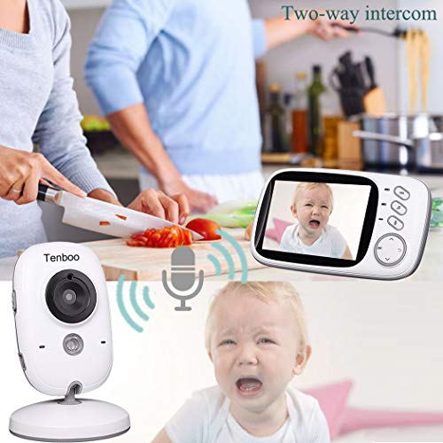 """Tenboo Baby Monitor with Camera Video Baby Monitor Wireless 3.2/"""" LCD Digital for"""