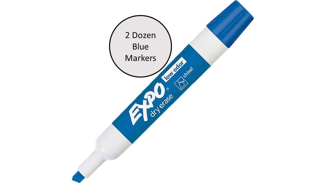 Expo Low Odor Dry Erase Markers Assorted Black, Blue, Green, Red - 2 Dozen of Each Color, 96 Markers Total by SAN (Image #3)