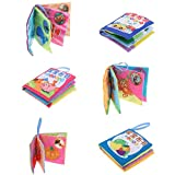 MonkeyJack 6 Set 8 Pages Soft Cloth Cognize Durable Book Chinese English Colors Shapes Educational Toys for Baby Kids Development