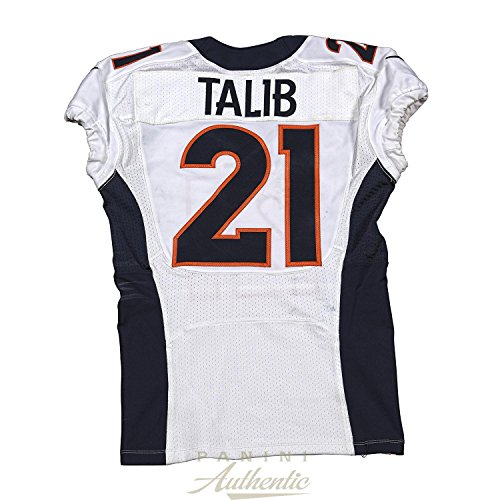 Aqib Talib Game Worn Denver Broncos Jersey From 11/2/2014 vs the New England Patriots ~Limited Edition 1/1~ - Panini Authentic - Panini (Patriots Authentic Jersey)