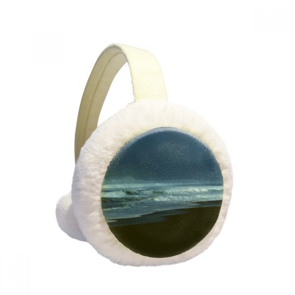 Ocean Sky Water Beach Science Nature Picture Winter Earmuffs Ear Warmers Faux Fur Foldable Plush Outdoor Gift