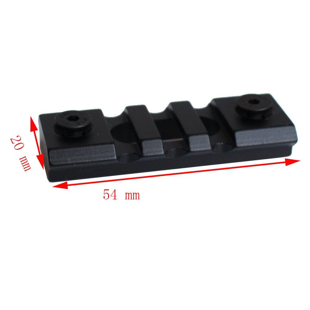 NOGA Black 3 Slots Set di Guide in Alluminio Picatinny e Viti per Keymod Set di Accessori per carabina Rail Rail