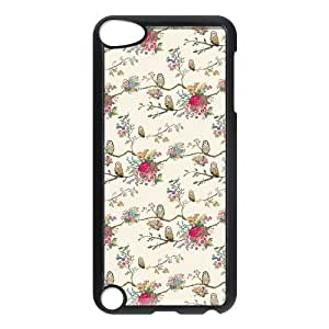 iPod 5 Case,Cute Floral Pattern Hard Snap-On Cover Case for iPod Touch 5, 5G (5th Generation)