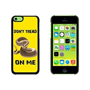 Gadsden Flag in Color - Don't Tread on Me Rattlesnake Tea Party Snap On Hard Protective For Iphone 5C Phone Case Cover - Black