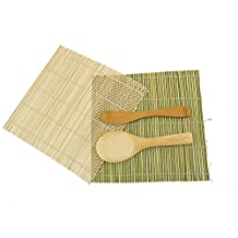 1x JapanBargain Brand - Sushi Rolling Kit - 2x rolling mats, 1x rice paddle, 1x spreader - combo