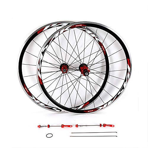 GDAE10 Bicycle Wheel Set, 700C Bicycle Bike Front Rear Wheel Kit Aluminium Rim 30mm Brake C/V (2018 New!!)