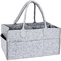 SODIAL Arca de almacenamiento de guarderia - Bandeja de panal de bebe - Bolsa de almacenamiento de toallitas de guarderia - Cesta portatil organizador de panal