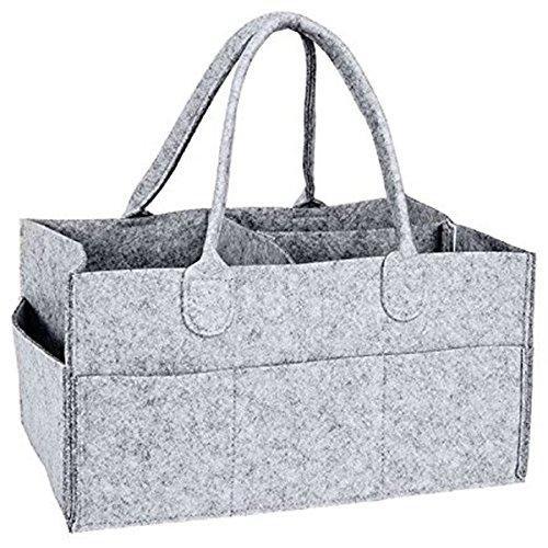 SODIAL Nursery Storage Bin-Baby Diaper Caddy-Nursery Wipes Storage Bag-Portable Basket nappy organizer 145193