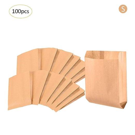 Bolsas de papel pequeñas marrones (100 unidades, papel de ...