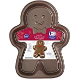 Wilton Gingerbread Boy Cake Tin, Steel Grey, 4.27 x 27.3 x 34.92 cm