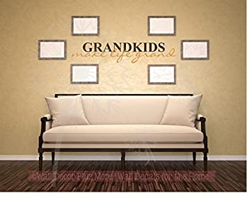 Etonnant Amazon.com: Grandkids Make Life Grand Wall Letters Vinyl Decal Stickers  Wall Art, 23x4.5 Inch, Chocolate/Rust Orange: Home U0026 Kitchen