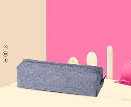 nohbi Estuche Bonito y Divertido,Bolso de papelería con Cremallera de Color sólido, Estuche de lápices Creativo de Moda, Gris,para Adolescentes, Estudiantes y Artistas: Amazon.es: Hogar