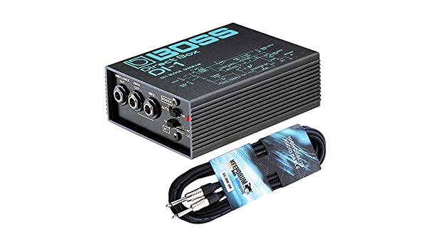 Boss DI-1 - Caja de conexión directa activa (incluye cable jack de ...