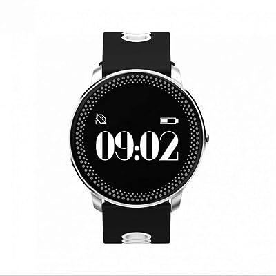 Bracelet intelligent Multifonctionnelle Multilingue horloge temps réel,LED Écran Tactile,Notification de message,photographie à distance,Rappel sédentaire Compatible pour Android Smartphone Samsung