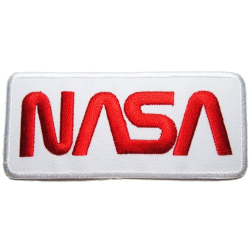 NASA Badge Iron Patches White Red product image