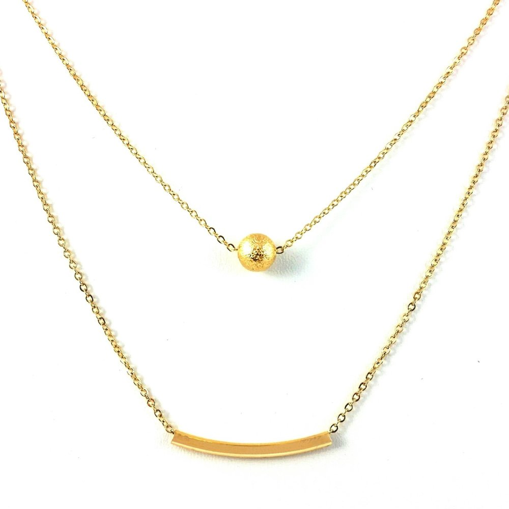 Cate & Chloe Brianna Strong Layered Gold Necklace, Gold Necklace, Statement Necklace, Chain Necklace, Chain Jewelry, Best Jewelry for Women, Teens, Girls - msrp $79 by Cate & Chloe