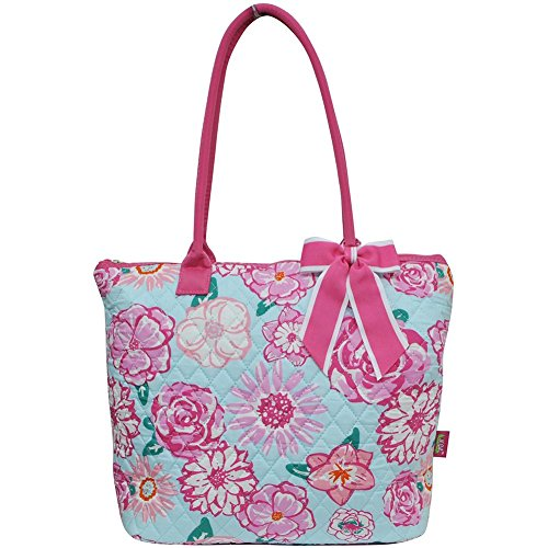 Quilted Two Pocket Tote - 1