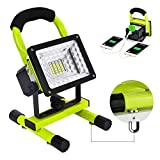 Work Light Led Work Light with Magnetic Stand BESWILL Portable Rechargeable Battery Flood Light 15W 24LED SOS Mode Outdoors Camping Emergency Light with 2 USB Ports to Charge Digital Devices Green