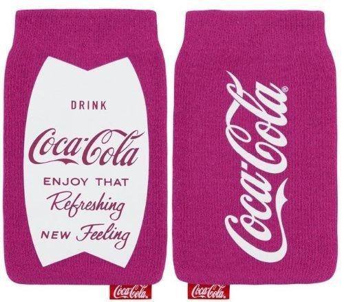 Original Coca Cola Universal Sock Pouch Case Cover Tasche Hülle Schutzhülle Fuchsie Rosa Einzelhandel Pack Geeignet Für Apple Iphone 4g / 4s