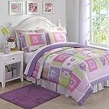 Laura Hart Kids Comforter Set (Happy Owls, Full/Queen)
