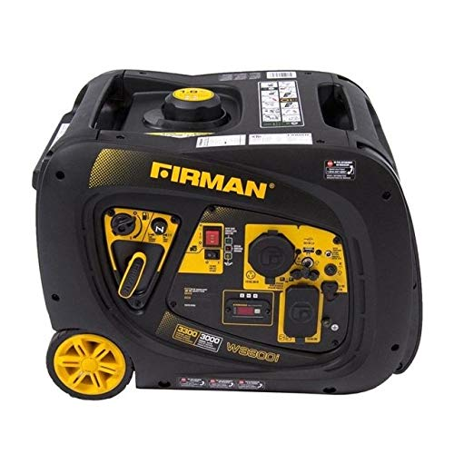 Firman W03082 3300/3000 Watt Electric Start Gas Portable Generator CETL And CARB Certified, Black