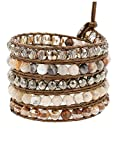 Chan Luu Women's Wrap Bracelet Pyrite Mix One Size