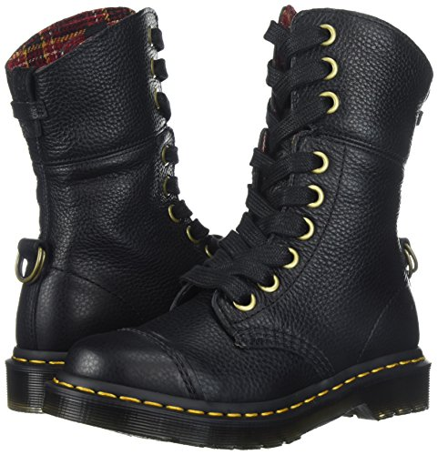 Dr. Martens Women's Aimilita Black Aunt Sally Leather Fashion Boot