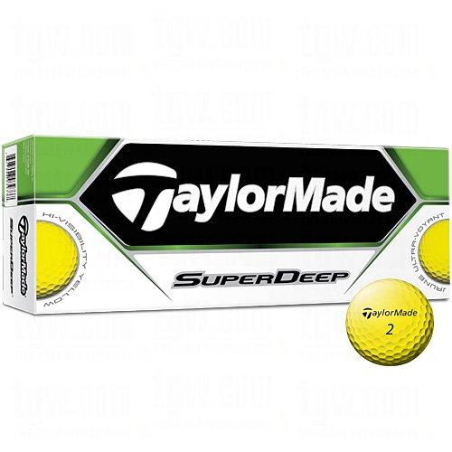 TaylorMade SuperDeep Golf Ball (Pack of 12), Yellow