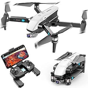 Flashandfocus.com 51BukeoFSvL._SS300_ SIMREX X20 GPS Drone with 4K HD Camera 2-Axis Self stabilizing Gimbal 5G WiFi FPV Video RC Quadcopter Auto Return Home…