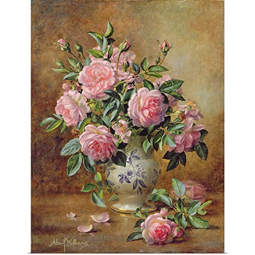 (GREATBIGCANVAS Poster Print Entitled A Medley of Pink Roses by Albert Williams 30