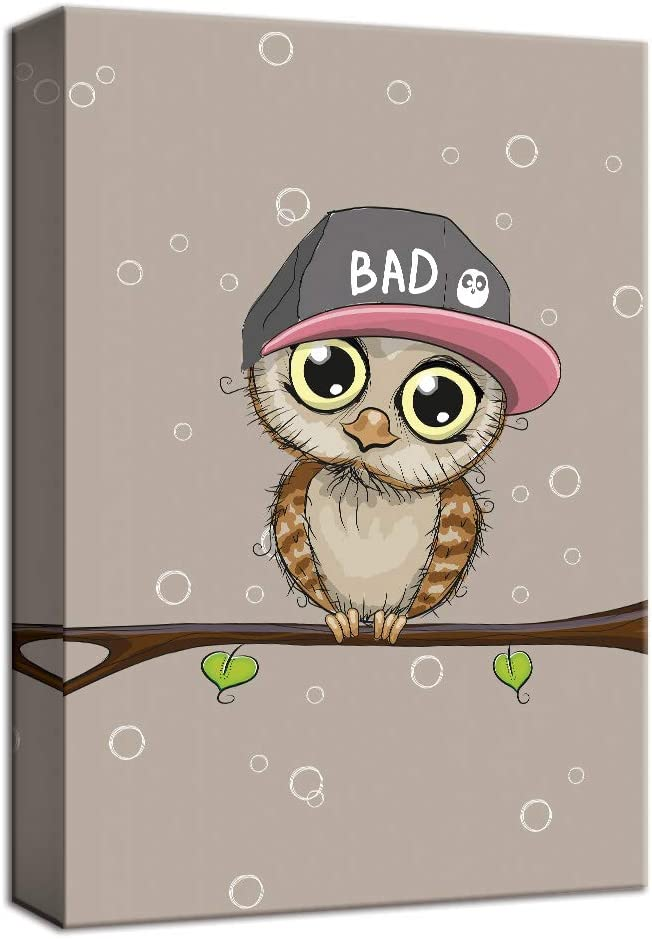 """OWL MODERN CANVAS WALL ART PICTURES PRINTS 12/""""x12/"""" FREE UK P/&P"""