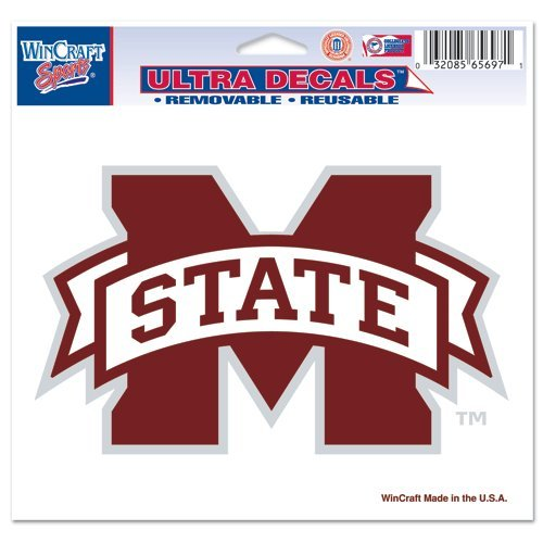 "NCAA Mississippi State University 24477091 Multi-Use Colored Decal, 5"" x 6"""