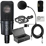 Audio Technica AT4040 Bundle + Pop Filter + 1 20 ft XLR Cable