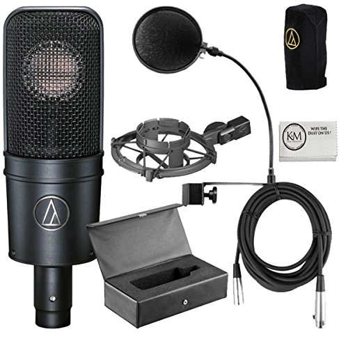 Audio Technica AT4040 Bundle + Pop Filter + 1 20 ft XLR Cable by Audio-Technica